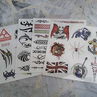 4 sheets of Boys Temporary Tattoo