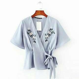 Pakaian wanita kimono rose white