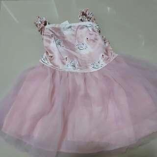 NEW tutu swan pink dress