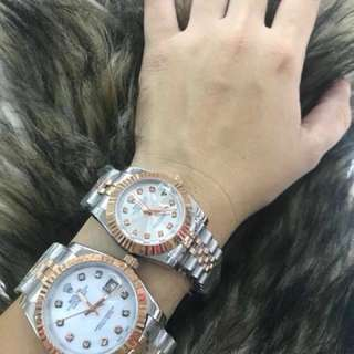 Rolex with STONE Couple Watch