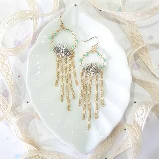 • Enchanted • Handmade Earrings • Long • Dangling • Chandelier