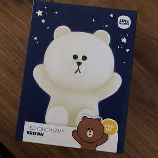 LINE friends Brown LED touch lamp