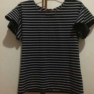 Black Striped Top #Huat50sales