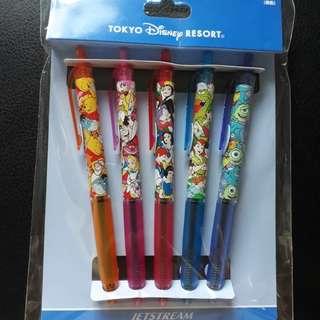5pcs Jetstream Disney Characters Pen Set