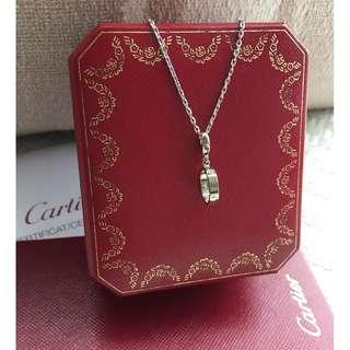 """Cartier 18K white gold - """"Love"""" pendant"""