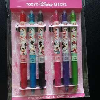 6pcs Disney Minnie Mouse Pilot Fixion 0.5mm Pen Set