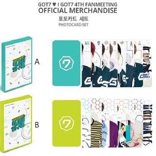 [Incoming Instock] GOT7 - 💓 I GOT7 4th Fan Meeting Concert Merchandise Photo Card
