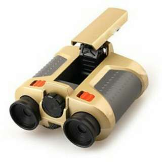 Night Scope 4 x 30mm Binoculars with Pop-Up Light / Teropong - Golden