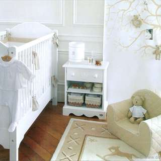 Jacardi Cotbed and Bedside Table 法國嬰兒床