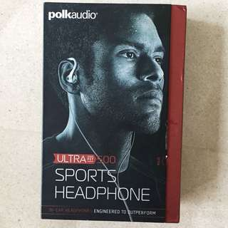 Polkaudio Ultra fit 500 sport Headphones