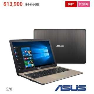Asus筆電 X540S N3700  500G Win10   15吋  少用九成新