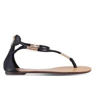 🚚 ZALORA vetvet 夾腳繞踝涼鞋