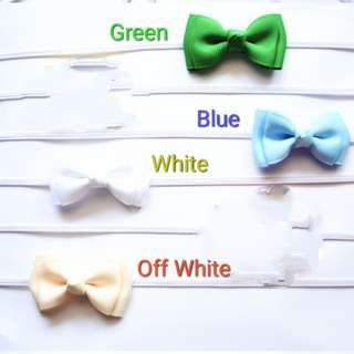 Tiny Tuxedo Bow Headbands