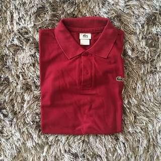 Kaos Polo Lacoste Burgundy Red