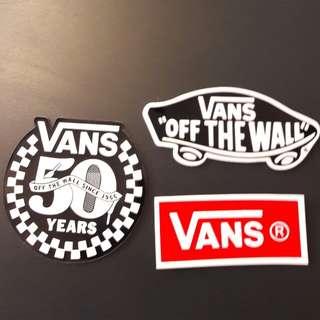 vans貼紙3張 (包郵)