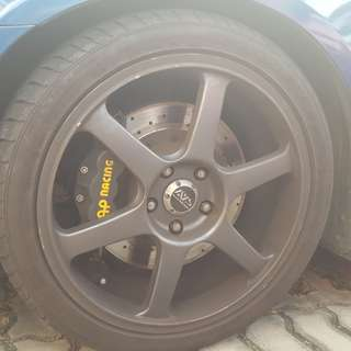 "Euro R CL7R Dekit. 18"" Advan T6 rim with tyre"