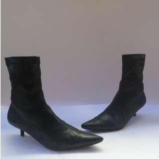 Saj Black Heel Boots