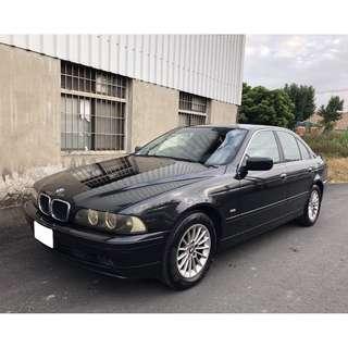 售 2002年 總代理一手車 BMW E39 520i 2.2 黑配黑