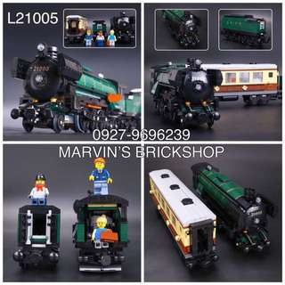 For Sale Emerald Passenger Train Building Blocks Toy