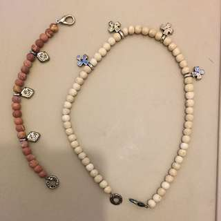Necklace and bracelet from Italy