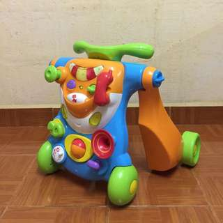 Baby Bruin 2in1 Push Walker & Ride on