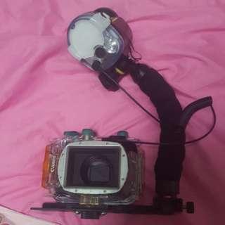 Canon G12 c/w WP-DC34 underwater casing & YS-03 Sea & Sea Strobe