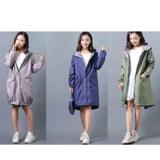 BN Woman Rain Coat Dual Colour