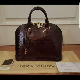 Authentic 100% Alma Louis Vuitton Amarantee