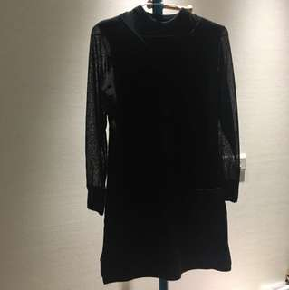 🚚 黑色透膚裙