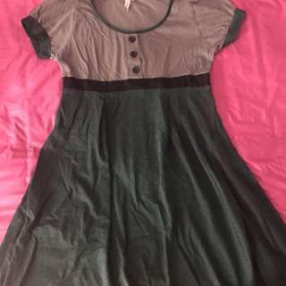 Green Grey Dress