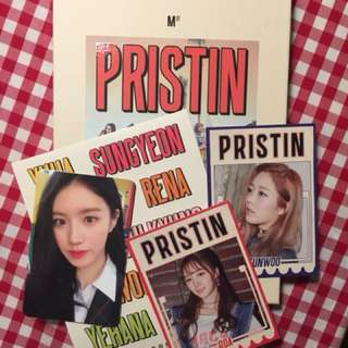 PRISTIN ALBUM+PHOTOCARD+STICKER