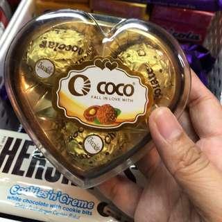 Coco Heart Chocolates 3's
