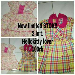 2 in 1 hellokitty dress for 0-1th