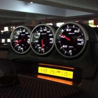 Defi gauges with hood for Suzuki Swift Sport zc31