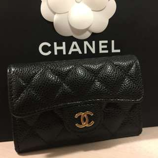 Chanel card holder 100%new & real. 有盒有紙袋 齊number card 隨時交收