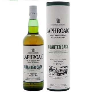 Brand new 700ml Laphroaig Quarter Cask Islay Single Malt Scotch Whisky