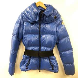 Moncler blue down jacket size 1