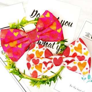 Valentine heart love Handmade , Dog Cat Bowties Bow tie , Clothing , Accessories , Pet Collars , Bandana, gift , present