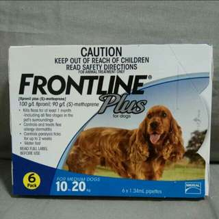 FRONTLINE FLEA & TICK PLUS 6s FOR MEDIUM DOG 10-20kg