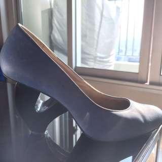 🚚 Heavy machine-水藍小羊皮-特殊鞋跟創史品牌-38號