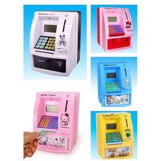 Cartoon ATM Bank Money Saving Box