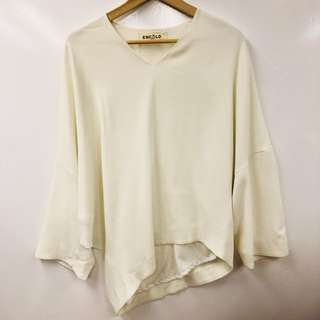 Enfold ream white top size 38