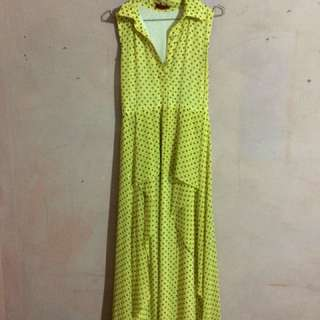 Dress polcadot yellow