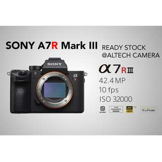 Sony A7RIII A7R III / A7RM3 / A7R Mark III Mirrorless Body Only READY STOCK (Free 64GB UHS-II High Speed SD Card)