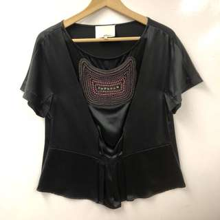 3.1 Phillip lim black with pearls and crystal top