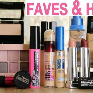 Free drugstore make up with purchase
