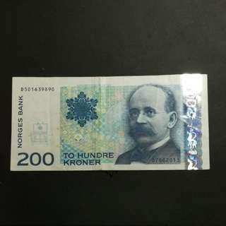 200 kroner 挪威