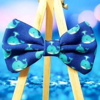 Blue Sea Whale Handmade  , Dog Cat Bowties Bow tie , Clothing , Accessories , Pet Collars , Bandana,
