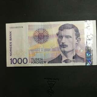 挪威一千 kroner