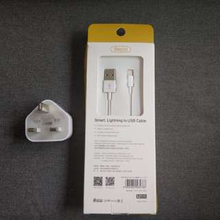 iPhone charger and lightning cable